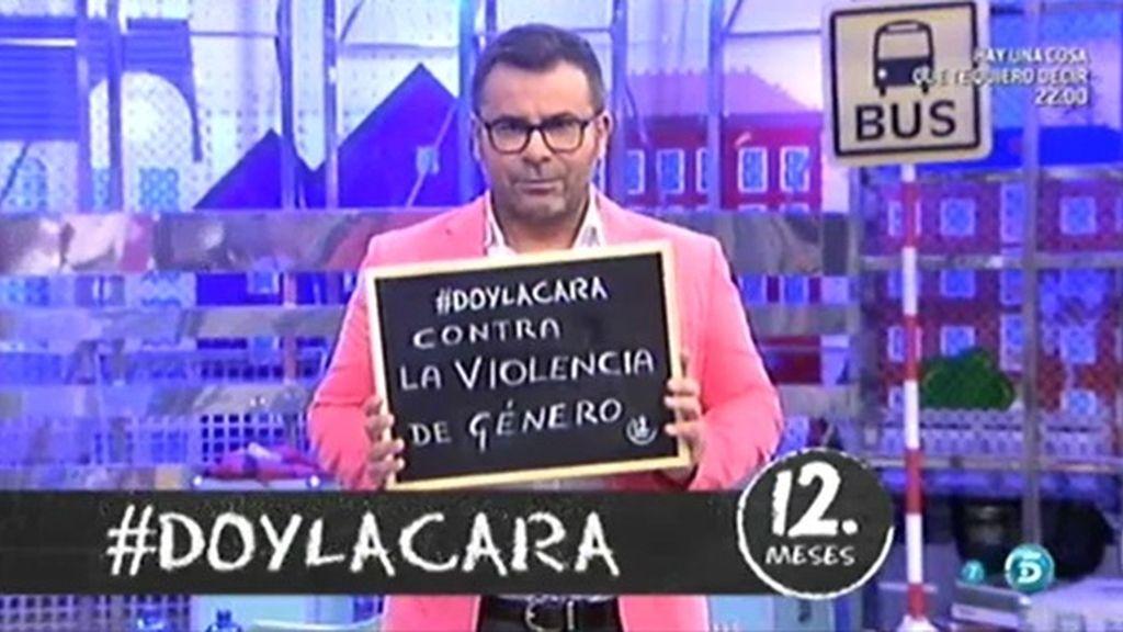 JJ Vázquez y el público de 'Sálvame' dan la cara contra la violencia de género
