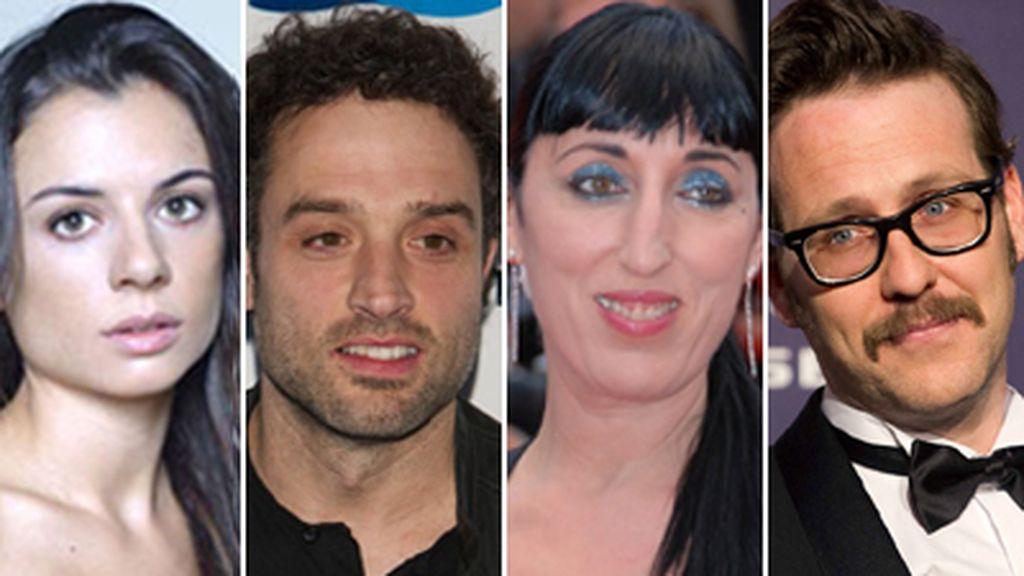 Montaje protagonistas serie 'Anclados'
