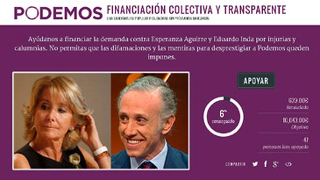 Campaña crowdfunding Podemos