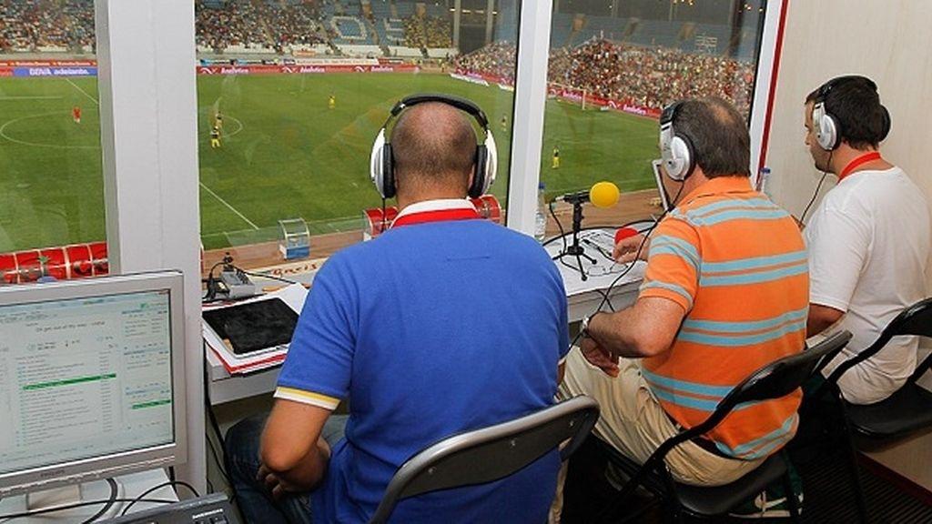 Cabina de radio en un estadio