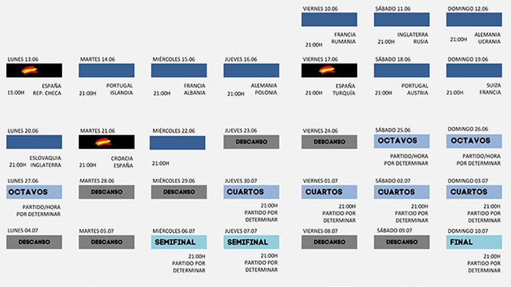 Calendario de la Eurocopa