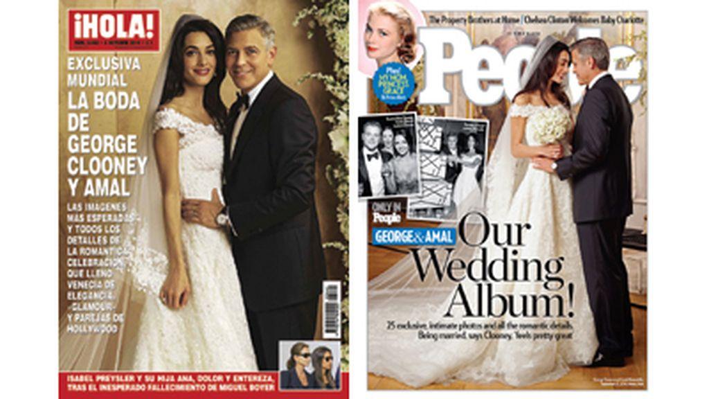 Portada ¡Hola! y People de la boda de George Clooney