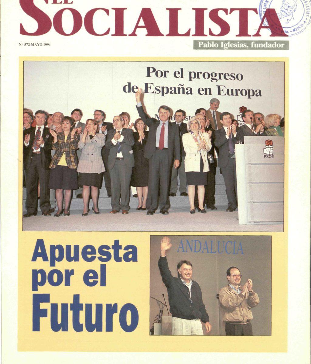 Portada del nº 572 (mayo de 1994) del diario 'El Socialista'