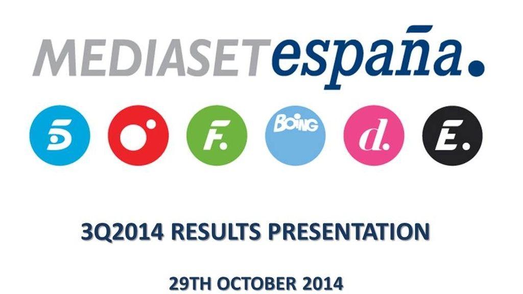 Mediaset España 2014 3Q Results