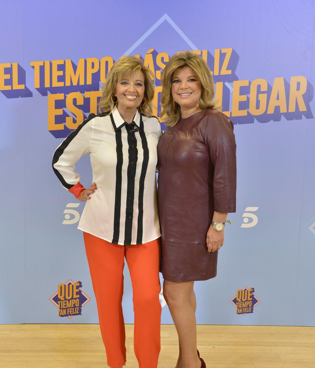 María Teresa Campos y Terelu en la presentación de la octava temporada de '¡Qué tiempo tan feliz!'