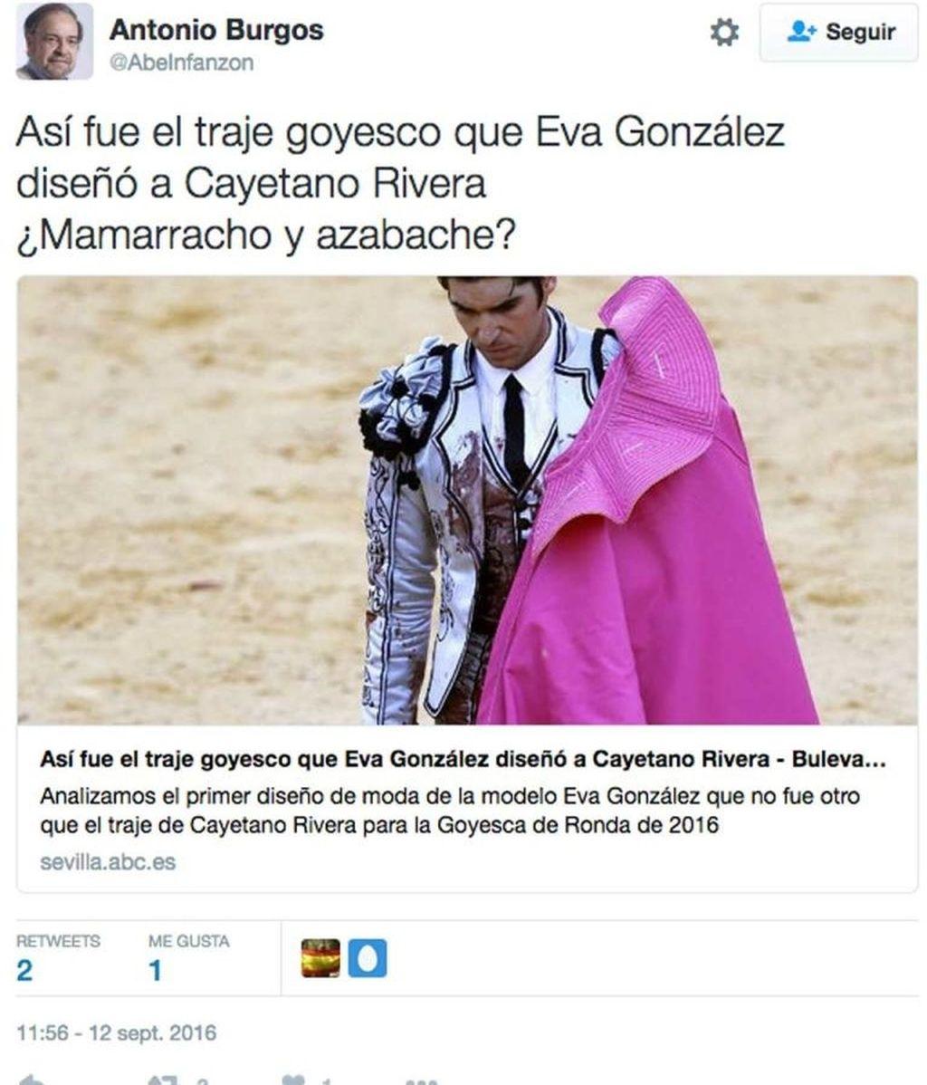 Tuit Cayetano Rivera traje
