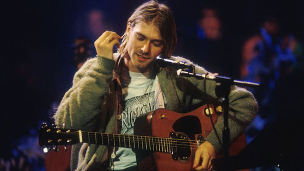 Kurt Cobain en el  'MTV Unplugged'