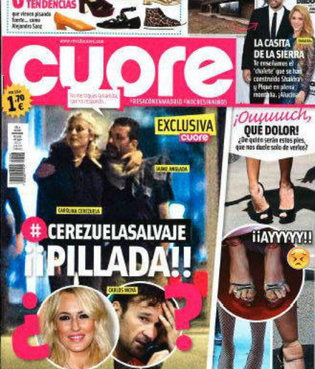 Carolina Cerezuela y Jaime Anglada en la revista Cuore