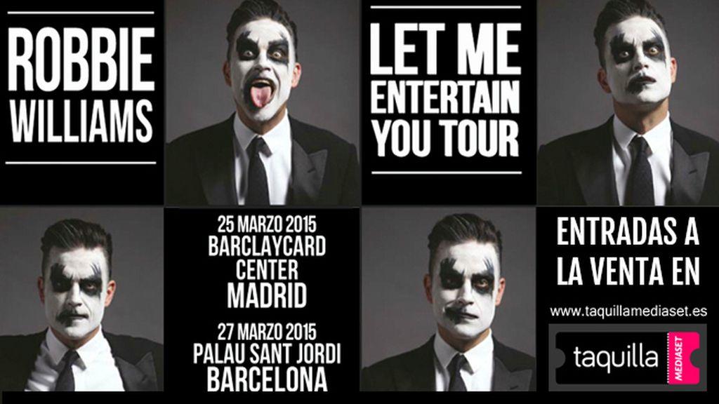 Comprar entradas para Robbie Williams Madrid y Barcelona en Taquilla Mediaset