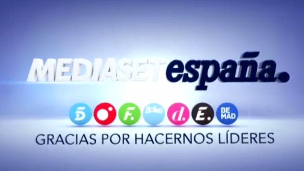 Mediaset, grupo líder también en mayo