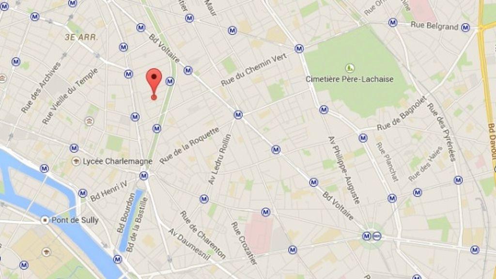 Plano calle de 'Charlie Hebdo'