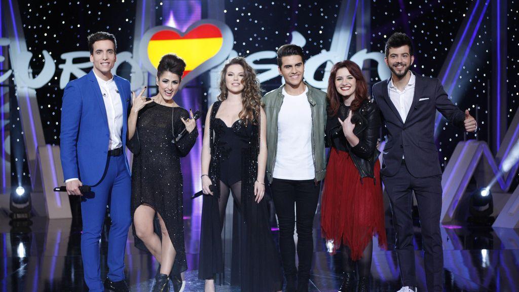 Foto candidatos Eurovisión 2016