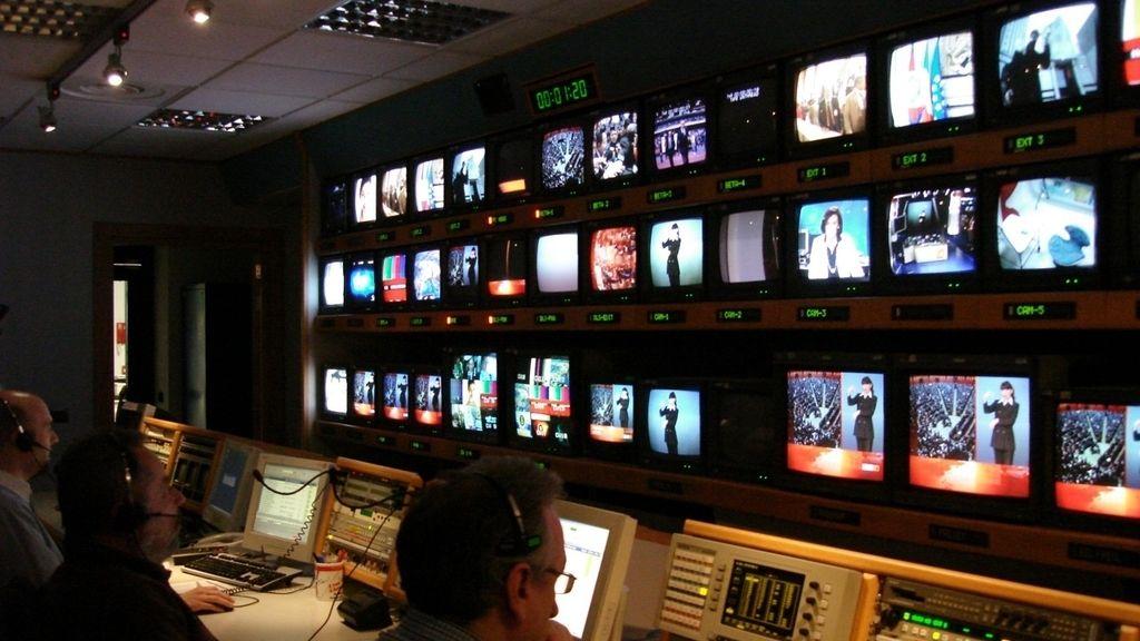 Sala control televisión