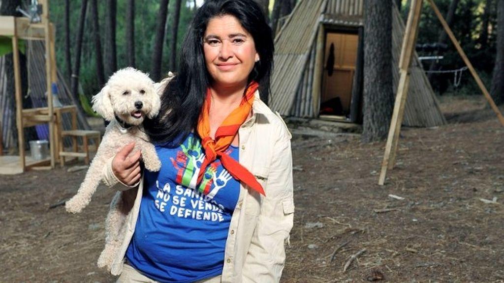 Lucía Etxeberría en 'Campamento de verano'