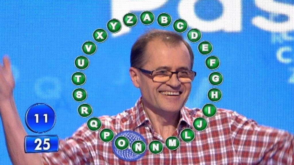 Julio Escartín hace historia en 'Pasapalabra' al conseguir los 318.000 euros de 'El Bote' en su primer día como concursante