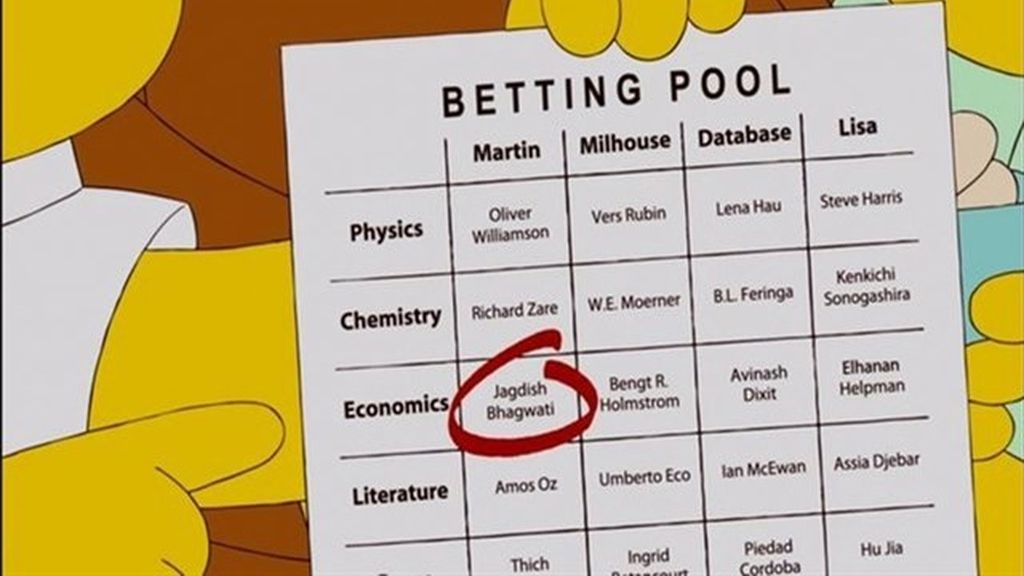 Los Simpson predicen Premio Nobel