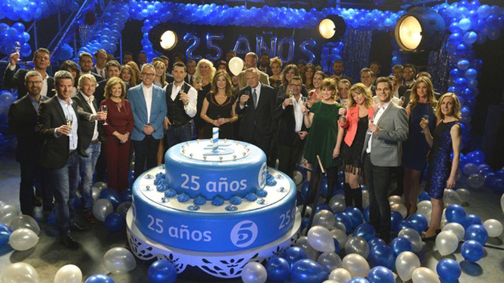 55 presentadores de Mediaset, por otros 25 años de Telecinco