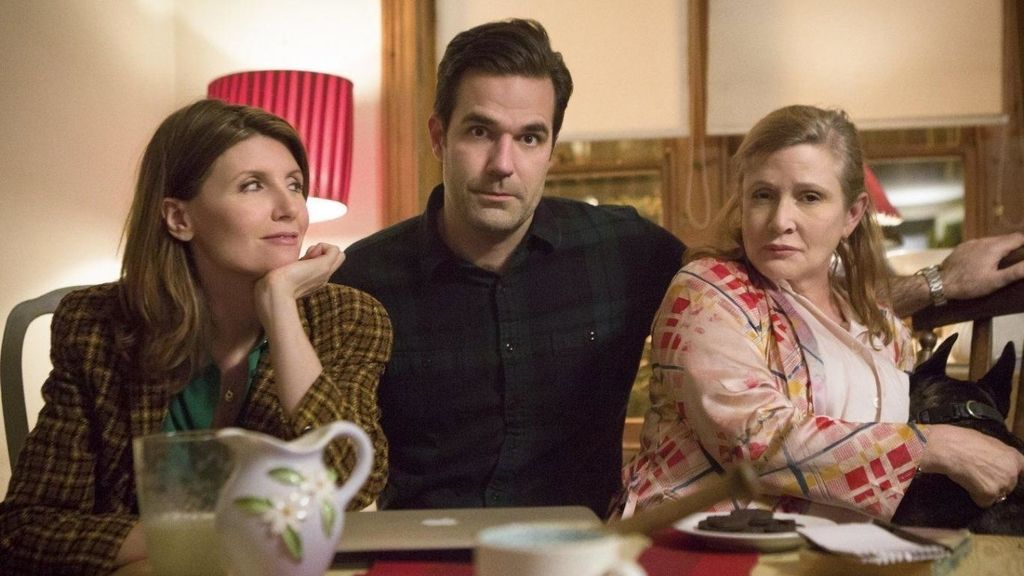 Rob Delaney, Sharon Horgan y Carrie Fisher