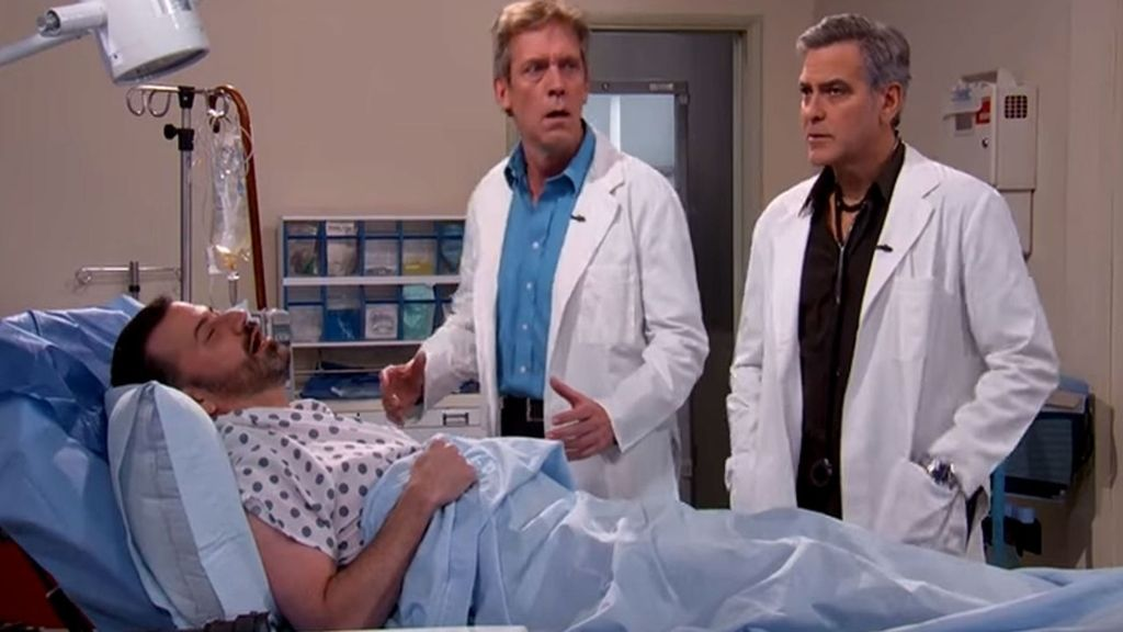 Los doctores Ross y House curan a Jimmy Kimmel