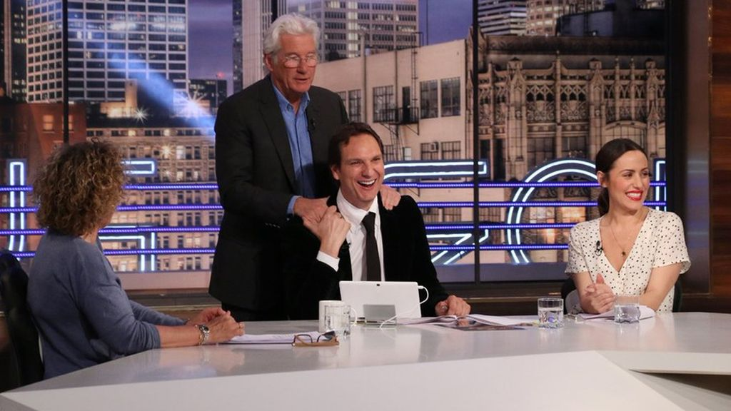 Richard Gere visita 'Hora punta', programa del 'prime time' de La 1 de TVE presentado por Javier Cárdenas