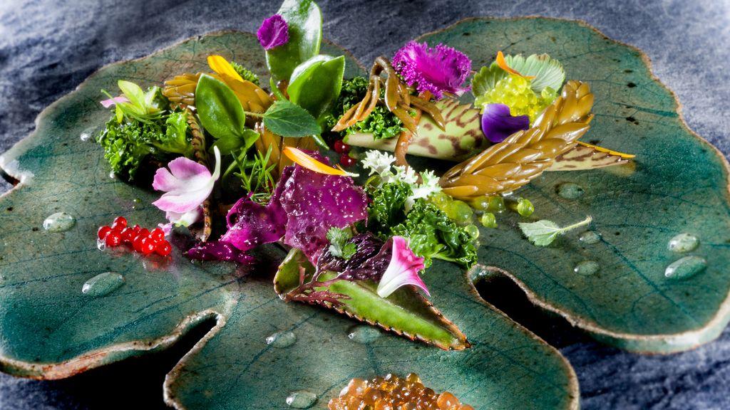 Plato de comida 'Las lágrimas' de Quique Dacosta para la quinta edición de 'La última cena' del canal Historia