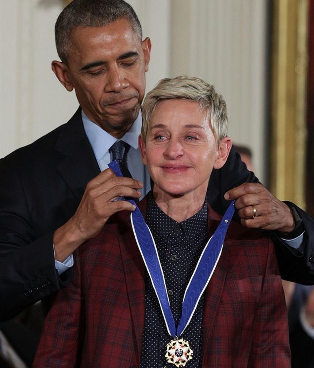 Ellen DeGeneres y Obama