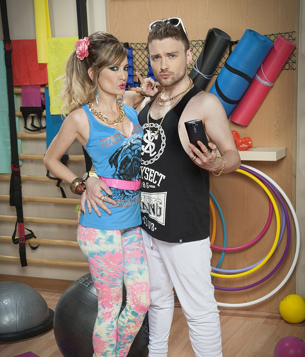 Miriam Cabeza (Vanessa) y Adam Jezierski (Christian), en 'Gym Tony L.C.'
