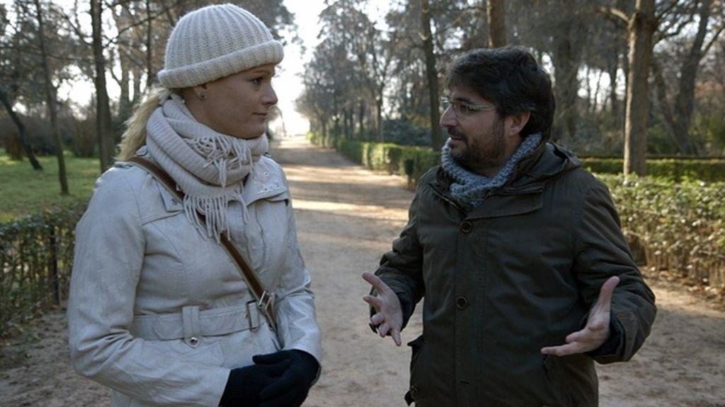 Zaida Cantera y Jordi Évole