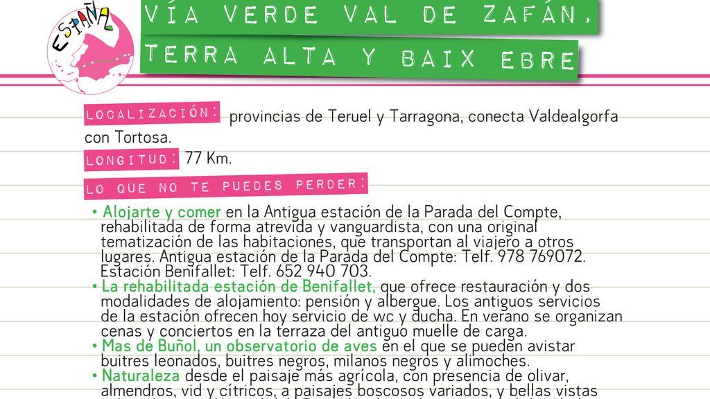 Vía Verde Val de Zafán, Terra Alta y Baix Ebre