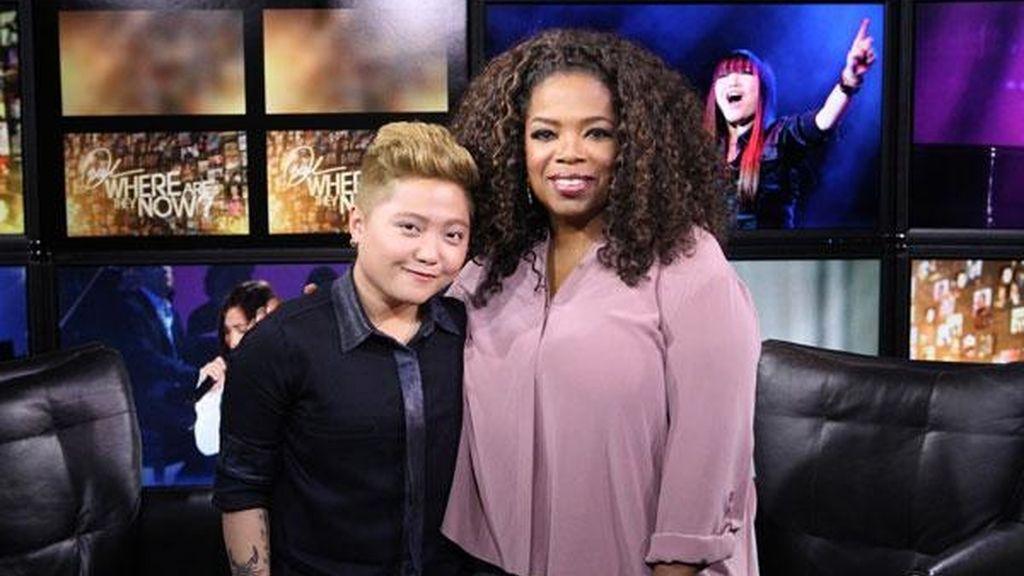 Charice Pempengco, de 'Glee', con Oprah Winfrey. Cambio de sexo