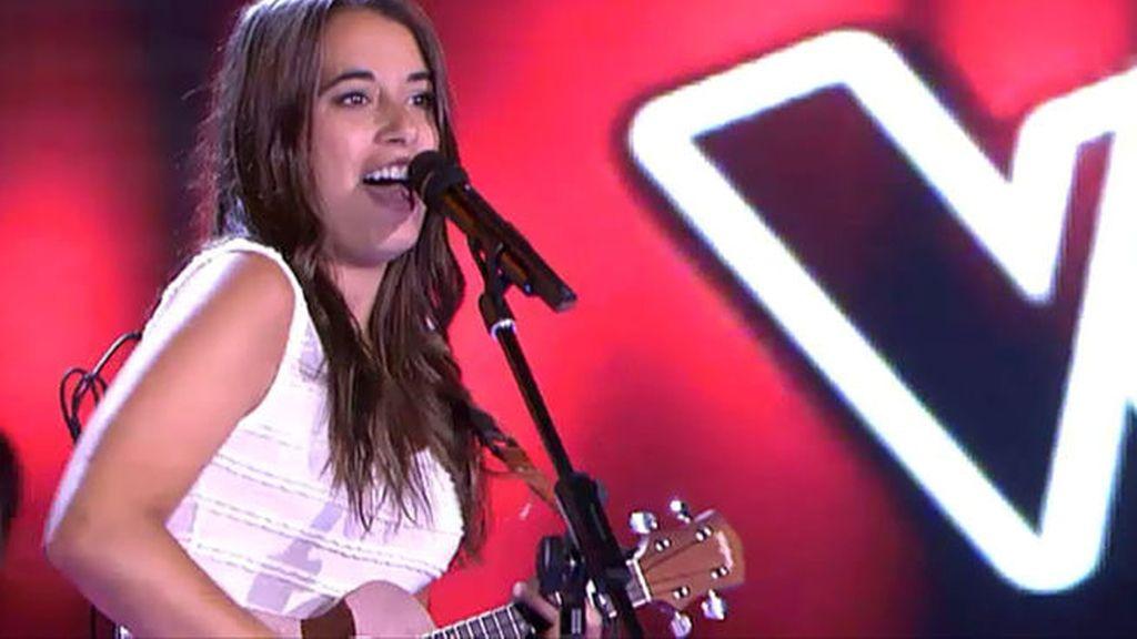 Paula Rojo en 'La voz'