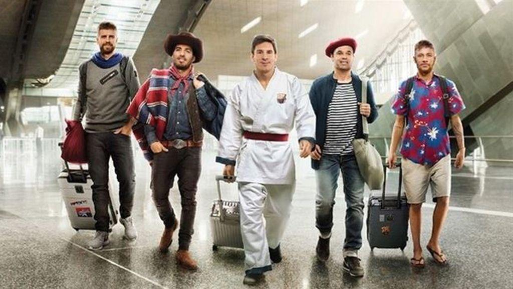 Vacaciones para Messi, Iniesta y Neymar, de Maldivas a París
