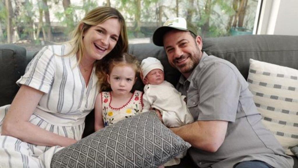 La familia Kimmel: Molly McNearney, Jane, William 'Billy' y Jimmy Kimmel (de izquierda a derecha)
