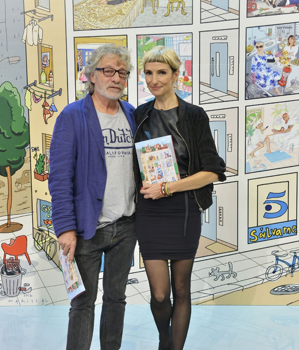 Javier Mariscal y la fotógrafa Elena Claverol