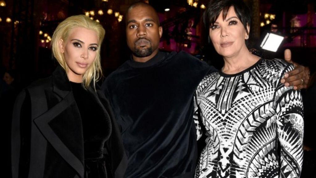 Kanye West, Kim Kardashian y Kris Jenner