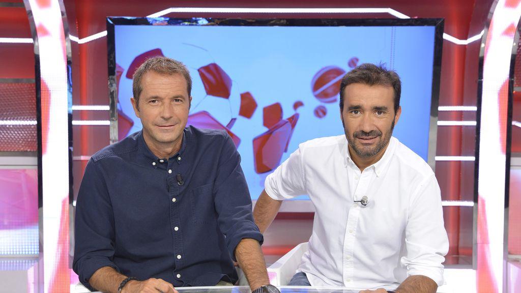 Manu Carreño y Juanma Castaño, presentadores de 'Deportes Cuatro'