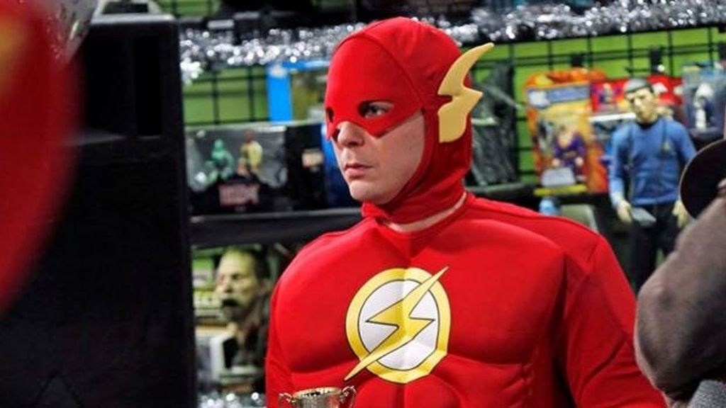 Sheldon Cooper disfrazado The flash