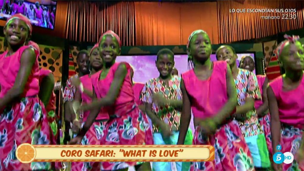 El 'Coro Safari' canta su canción 'What is love?' en el programa 'Sálvame'