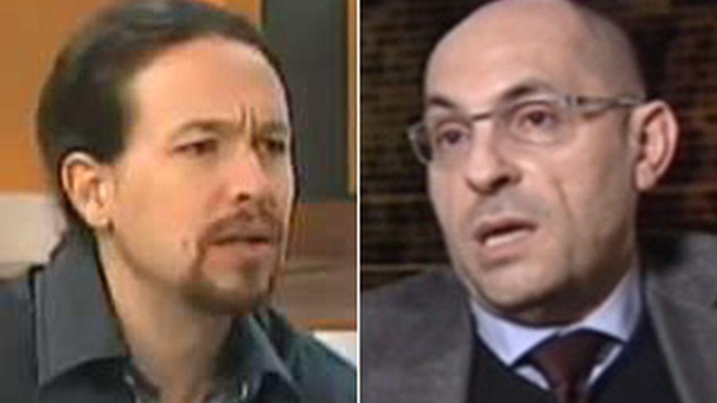 Pablo Iglesias y Elpidio silva