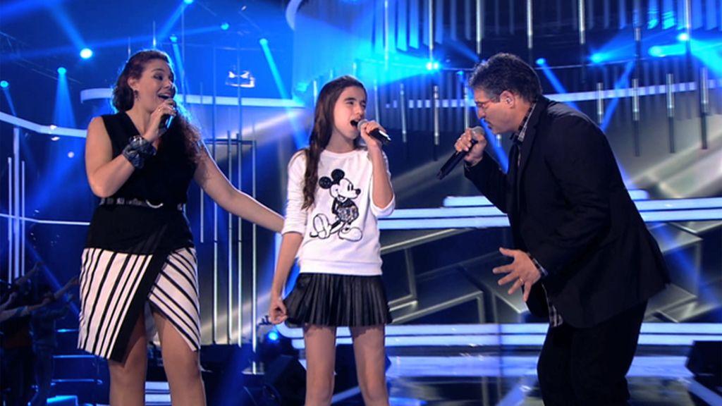David de María y familiares, invitados en la semifinal de 'Levántate'