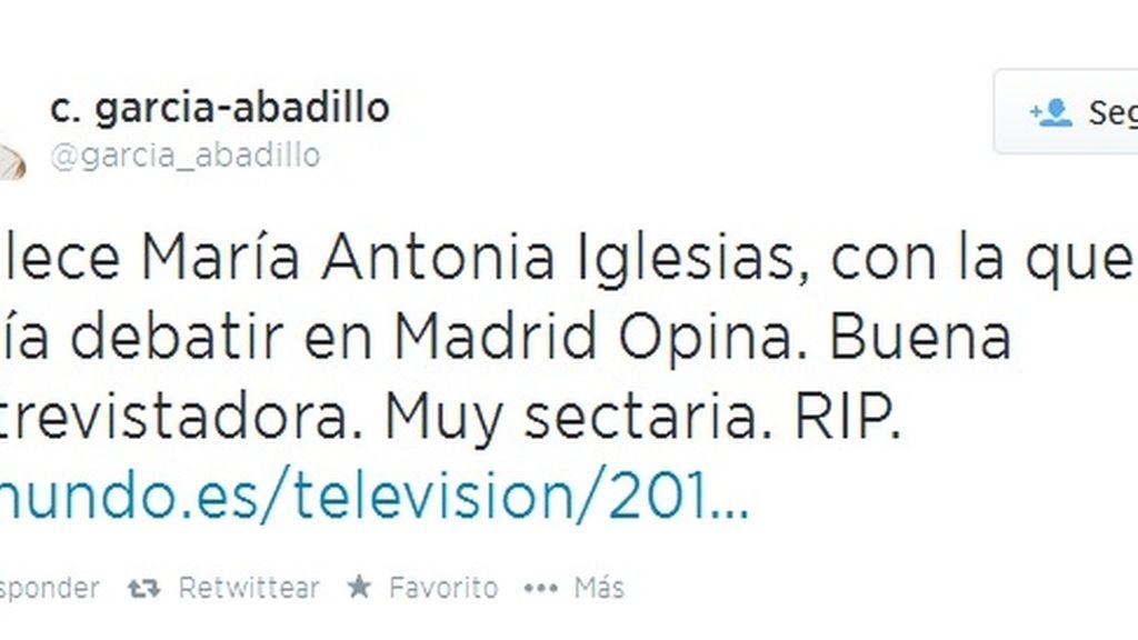 Twitter Casimiro García-Abadillo muerte María Antonia Iglesias