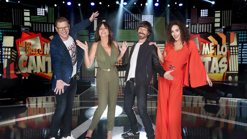 Jorge Cadaval, Yolanda Ramos, Santi Millán y Cristina Rodríguez son el jurado de 'Me lo dices o me lo cantas' en Telecinco