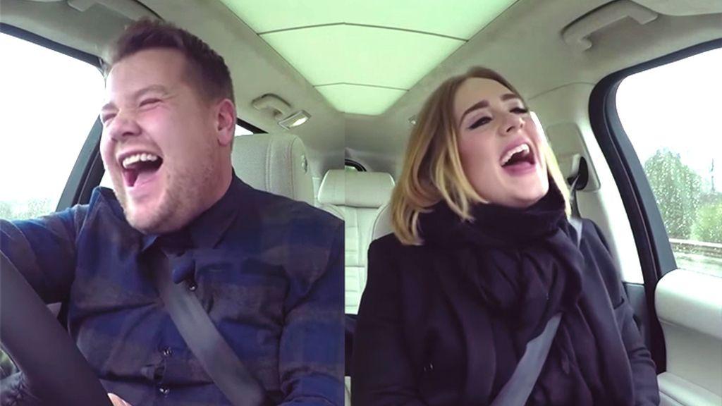 James Corden con Adele en el programa 'Carpool karaoke'