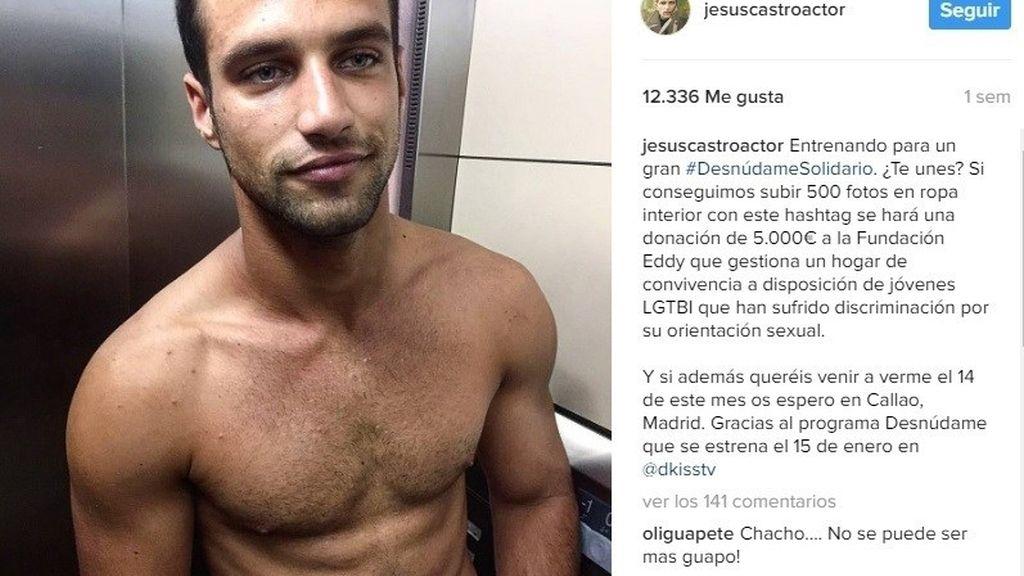 Jesús Castro se desnuda por el colectivo LGTB en Callao para el #DesnudoSolidario de DKISS