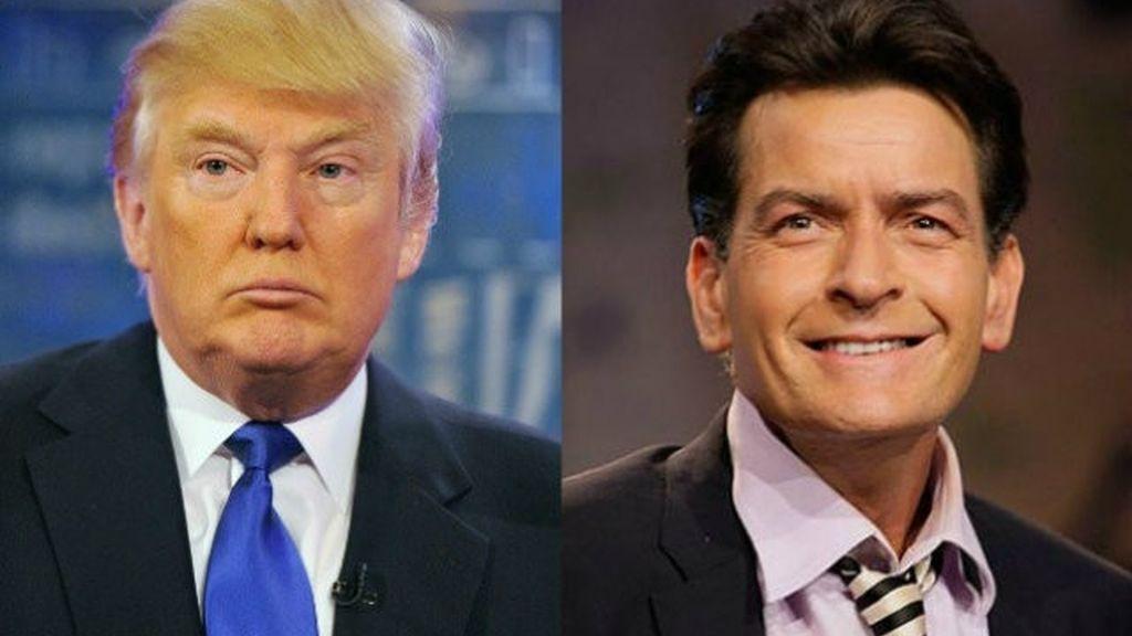 Donald Trump y Charlie Sheen