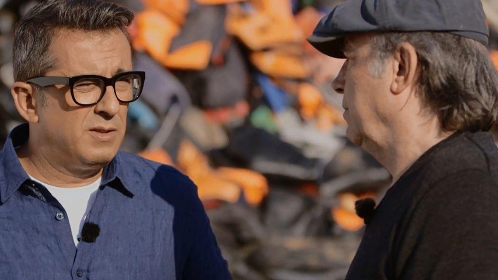El drama de los refugiados sirios, 'Late motiv' de Buenafuente y Joan Manuel Serrat