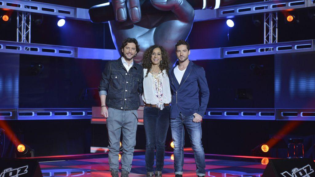 David Bisbal, Rosario Flores y Manuel Carrasco