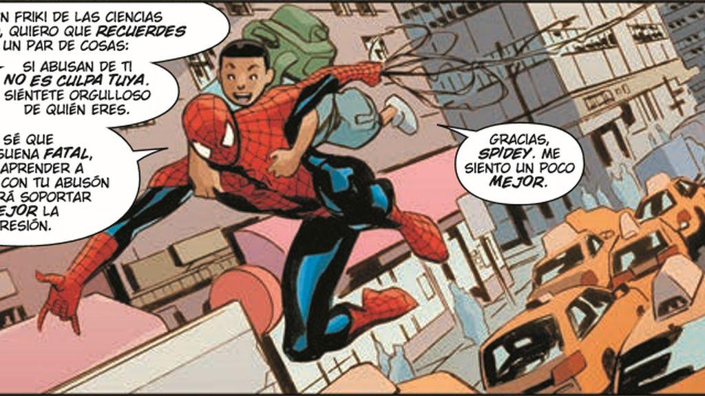 Spiderman contra el acoso