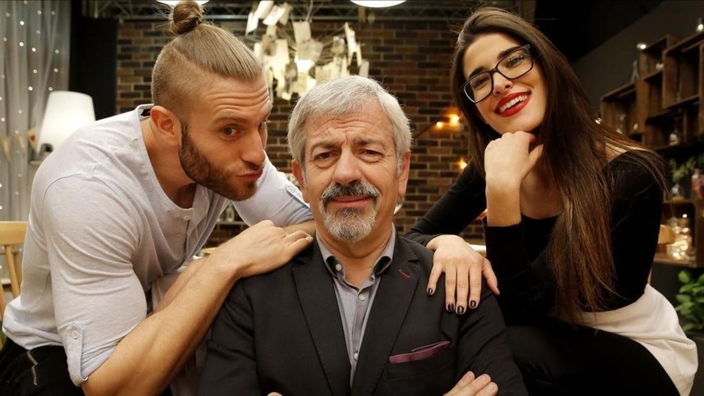 Matías Roure, Carlos Sobera y Lidia Torrent en 'First dates'