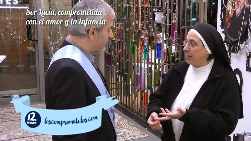 """Lucía Caram, comprometida en 'First Dates': """"Los niños son los que necesitan más amor"""""""